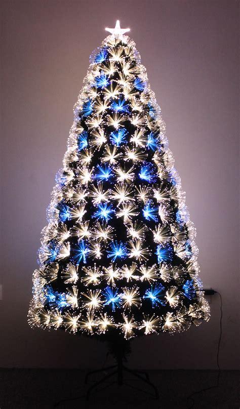 6ft Fibre Optic Christmas Tree Black by The Vesuvius Fibre Optic Fir 3ft To 8ft