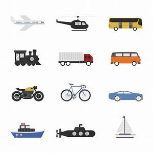 Transport ways collection Vector | Free Download