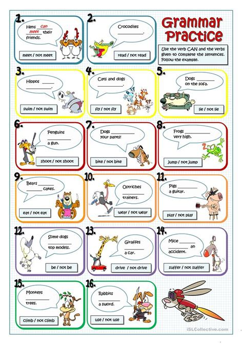 What Animals Can Or Can't Do Worksheet  Free Esl Printable Worksheets Made By Teachers