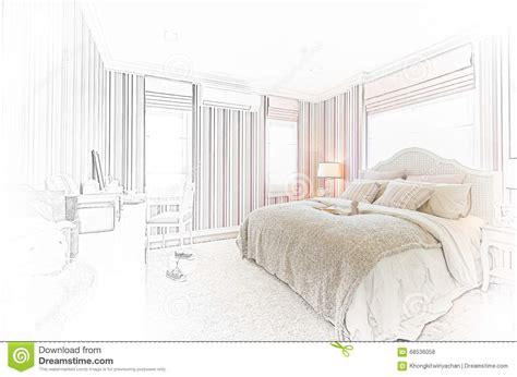 croquis de chambre conception de croquis d 39 intérieur moderne de chambre à