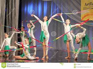 Gymnastic Performance With Ribbons Editorial Photography ...