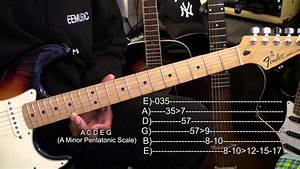 How To Play The A Minor Pentatonic Scale Up The Guitar