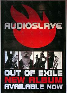 AUDIOSLAVE - 'Out Of Exile' Album Promo Poster (Billboard ...