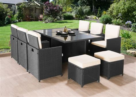outdoor wicker table and chairs cube rattan garden furniture set chairs sofa table outdoor