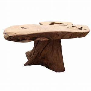 Table Basse Pied Bois : table basse racine teck pied central casita ~ Teatrodelosmanantiales.com Idées de Décoration