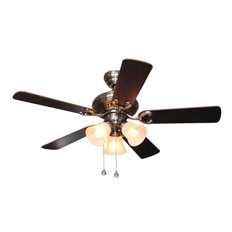 harbor breeze fans reviews shop harbor breeze 44 in polished pewter multi position