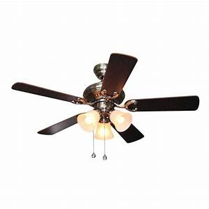 Harbor breeze in polished pewter ceiling fan with