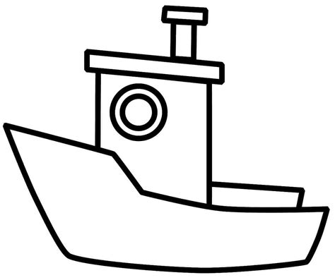 Outline Of Boat To Colour by 4 Best Images Of Boat Coloring Pages Printable Printable