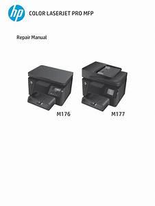 Hp Color Laserjet Pro M176  M177 Repair Manual