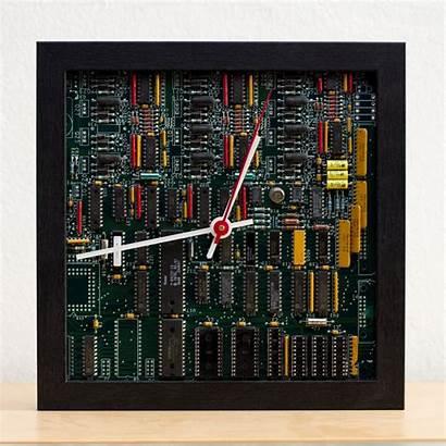Circuit Unique Board Clock Desk Therecomputing Geek