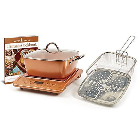 copper chef xl  casserole  pc set induction cooktop casserole pc set  black