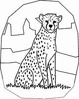 Cheetah Coloring Pages Printable sketch template