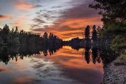 Spokane Sunset River Wallpapersqq