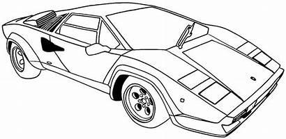 Coloring Cars Printable Pages Sports Cool Lamborghini