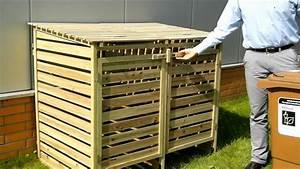 Mülltonnenverkleidung Aus Paletten : m lltonnenbox aus holz oskar f r 2 tonnen youtube ~ A.2002-acura-tl-radio.info Haus und Dekorationen