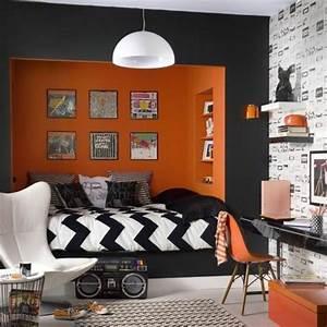 deco chambre ado garcon orange 044820 gtgt emihemcom la With modele chambre ado garcon