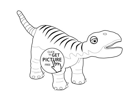 Dinosaur Train Coloring Page For Kids, Printable Free