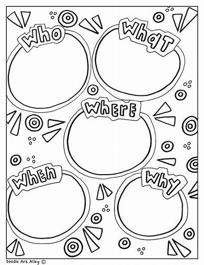 Graphic Organizers Organizer Reading Coloring Printable Doodles