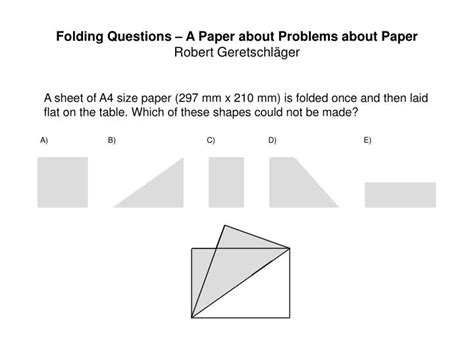 folding questions  paper  problems