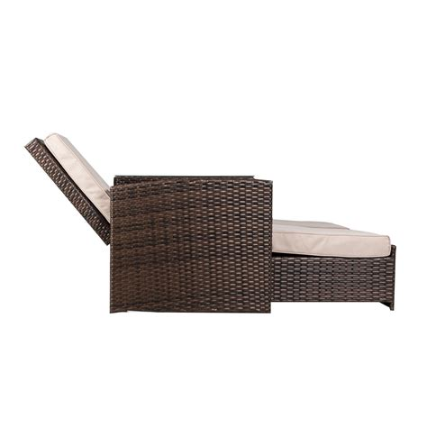 outsunny 3 outdoor rattan wicker chaise lounge furniture set only a few left