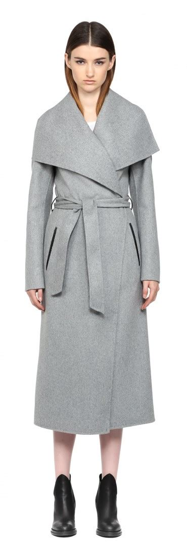 light grey long coat mackage mai f5 light grey long doubleface wool coat in