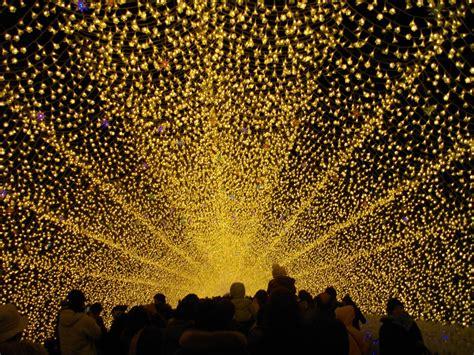 golden tunnel of light japan new year lights 7724 the wondrous pics