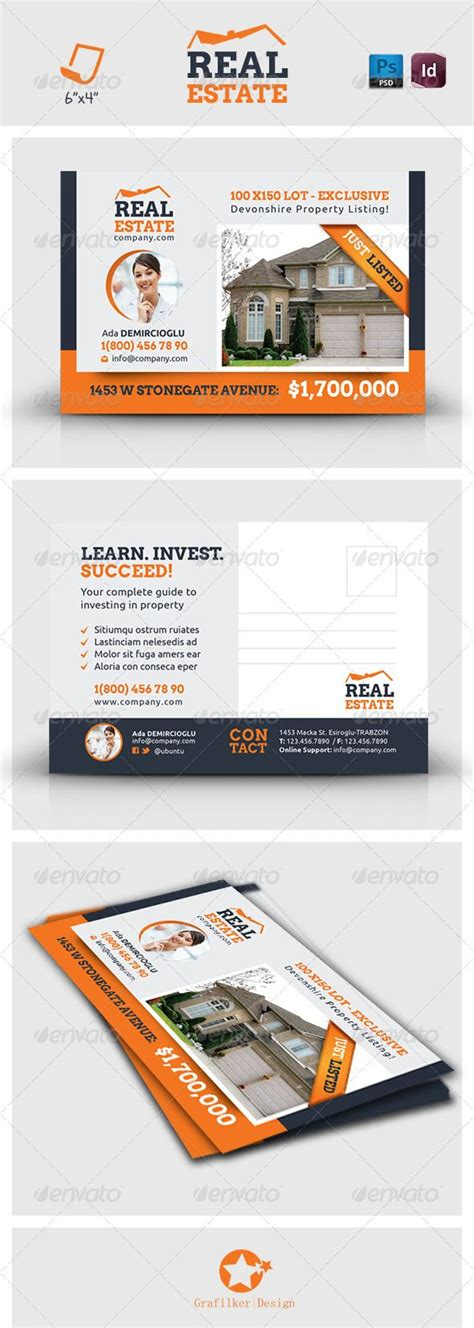 postcard template graphicriver 10 best images about real estate postcard design ideas on