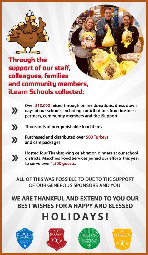 ilearn schools feast giving thanksgiving celebration dinners