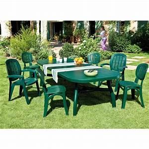 Chaise Jardin Plastique : table corfu vert tables de jardin tables chaises bancs mobilier de jardin jardin ~ Teatrodelosmanantiales.com Idées de Décoration