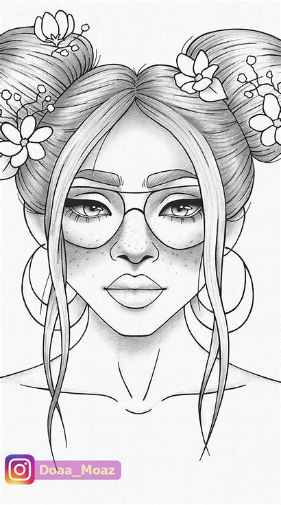 Coloring Pages Printable Colouring Drawings Drawing Portrait