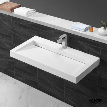 kitchen sink table top hospital sink artificial marble hair wash sink wash basin