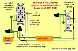 Wiring Diagram  Split Receptacle