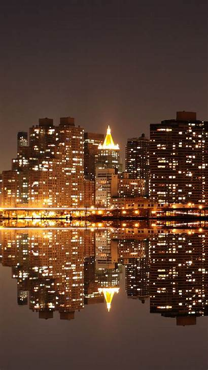 Night Iphone Reflection Wallpapers Android Plus Architecture