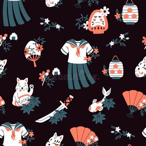 japan pattern stock vector illustration  contrast