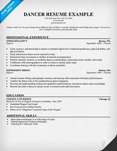 Free dancer resume example resumecompanioncom resume for Dance resume example