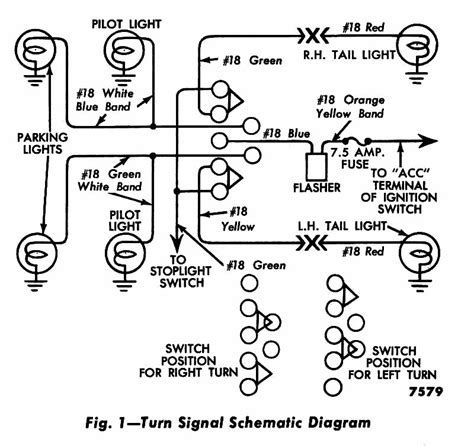 color coded wiring diagram for 1956 turn signals ford