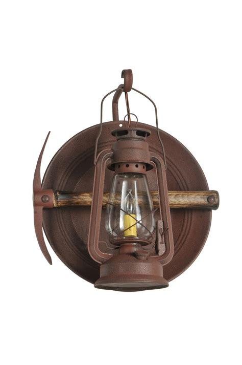 meyda  miners lantern wall sconce