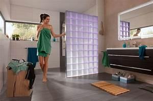 Wand Aus Glasbausteinen : led beleuchtete glasbausteine als duschabtrennung ~ Markanthonyermac.com Haus und Dekorationen