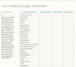 budget wedding worksheets money funk