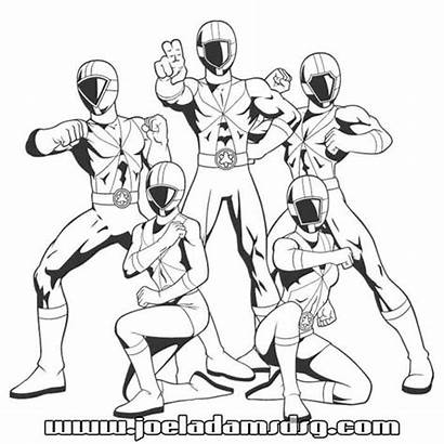 Rangers Coloring Power Pages Printable Sheets Rescue
