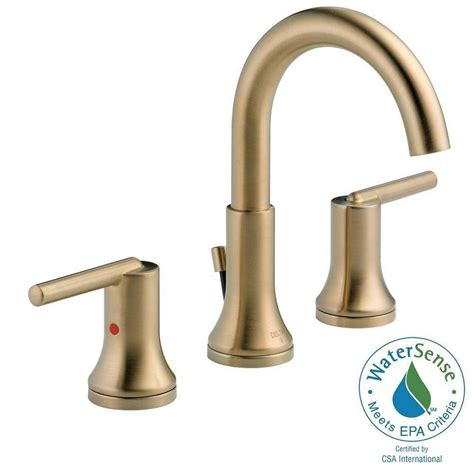 Delta Trinsic 8 in. Widespread 2 Handle Bathroom Faucet