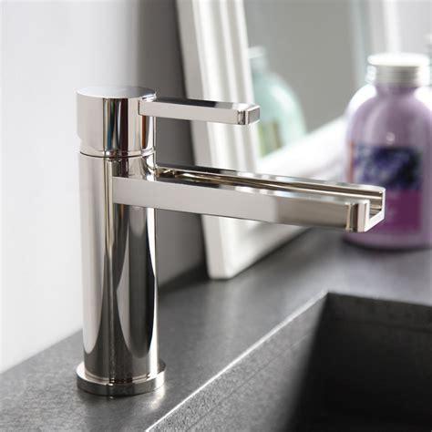 designer bathroom faucets aqua polished nickel modern bathroom faucet