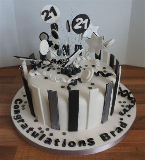 black white silver stripe st birthday cake coppice