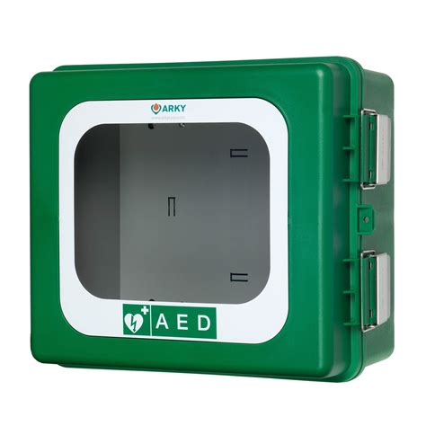 Defibrillator Cabinet by Arky Green Outdoor Aed Cabinet Without Heating