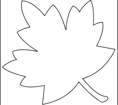 Fall Leaf Template Maple Leaf Coloring Pages Printable Leaves Template Free