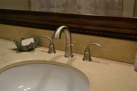 Cream Coloured Counter With Undermount Sink