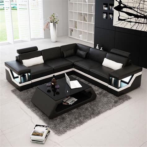 angle canapé canapé d 39 angle design en cuir véritable tosca l lit