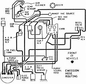 1985 chevy 350 vacuum hose routing autos post for 1985 chevy 350 engine diagram image details