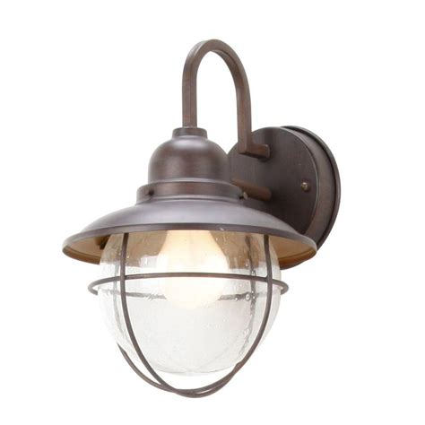 Backyard Lighting Home Depot by Hton Bay 1 Light Brick Patina Outdoor Cottage Lantern