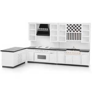 dollhouse kitchen furniture 1 12 miniature modern kitchen delxue cabinet set kit for dollhouse furniture ebay